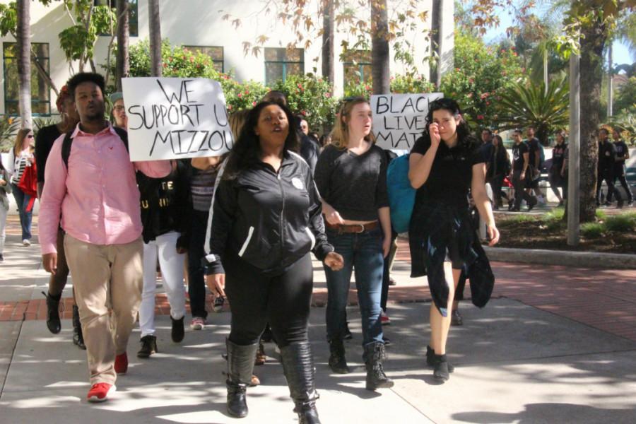 Demonstrators+bring+Mizzou+movement+to+SDSU