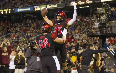Aztecs put bow on clinching of West Division with 52-14 thumping of UNLV