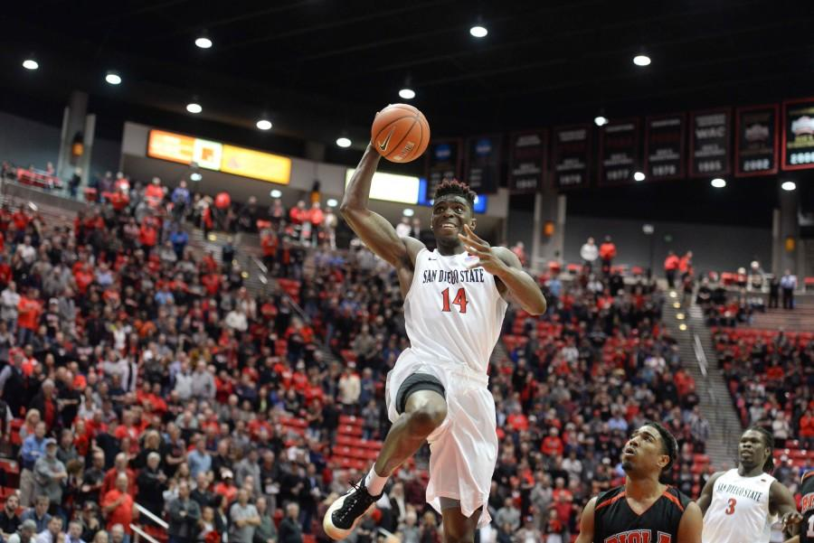 SDSU men's basketball beats a very good Biola team 73-53
