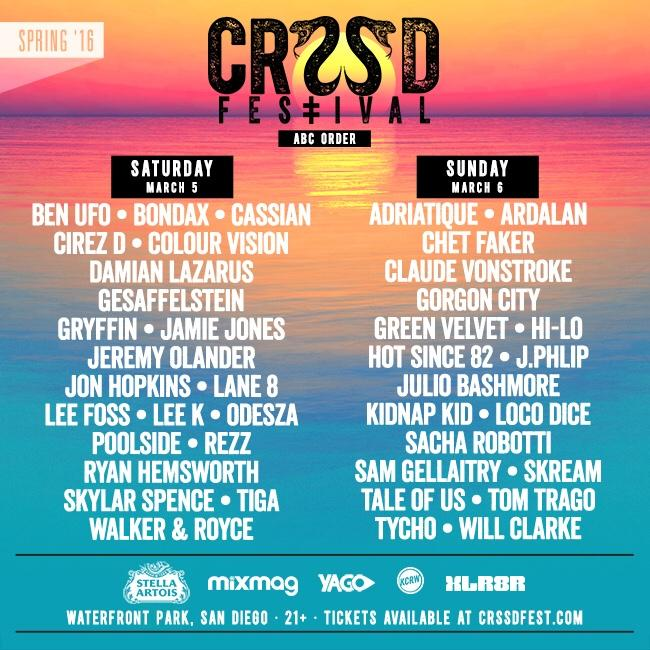 CRSSD Fest looks to exhilarate downtown San Diego with stacked lineup
