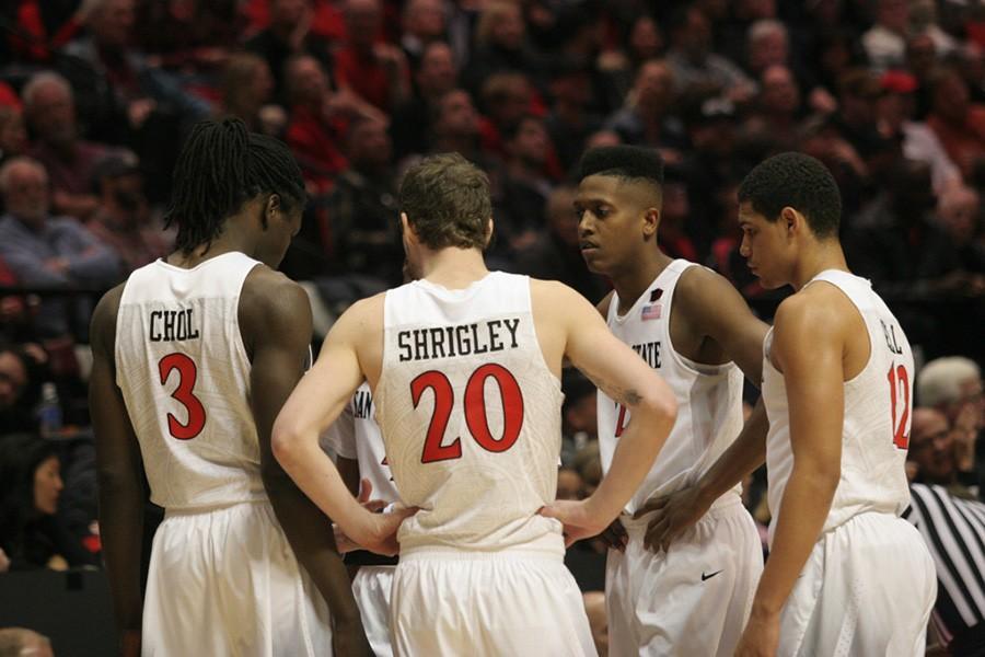 SDSU men's basketball preparing for mental challenge of playing at Wyoming