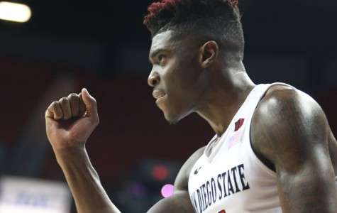 SDSU men's basketball battles for 71-65 victory over Utah State in MW Tournament