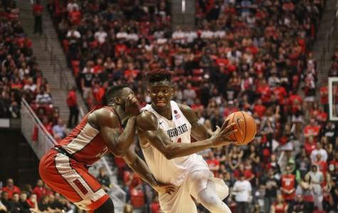 SDSU men's basketball clash with Aggies in Mountain West Tournament quarterfinals