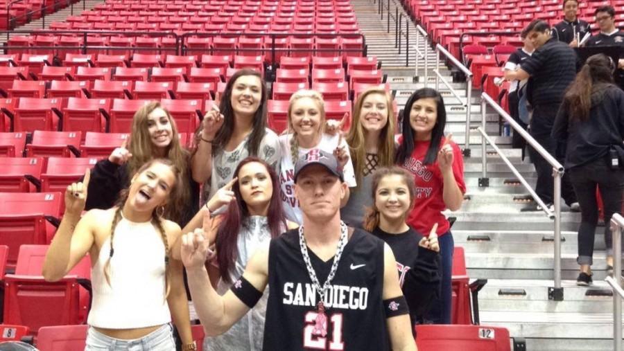SDSU women's basketball fan is a one man 'Show'