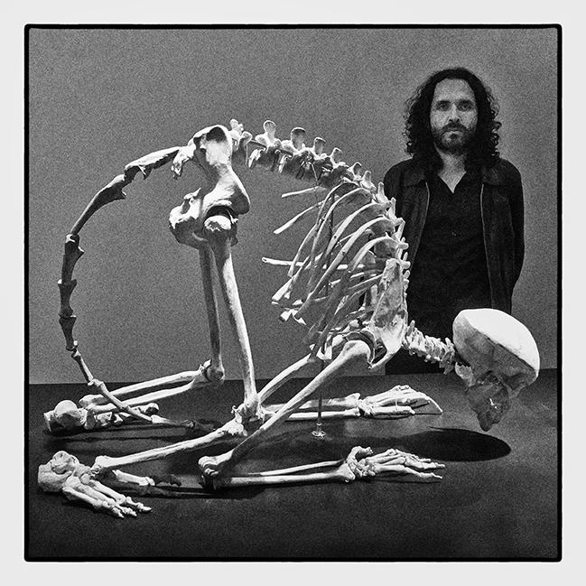 Painting professor creates art and sculpture from flesh and bone