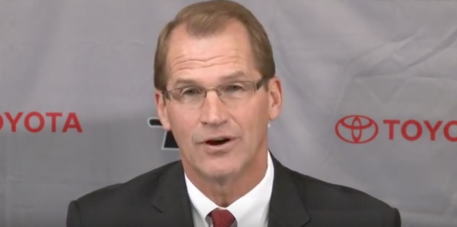 Jim+Sterk+resigned+from+his+position+as+the+Athletic+Director+at+SDSU+on+Monday.+Photo+taken+from+youtube.