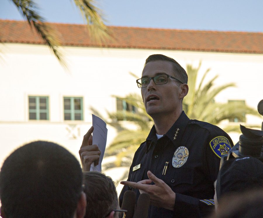 SDSU Chief of Police Josh Mays said university police will make changes to the way they describe suspects to be more racially sensitive.