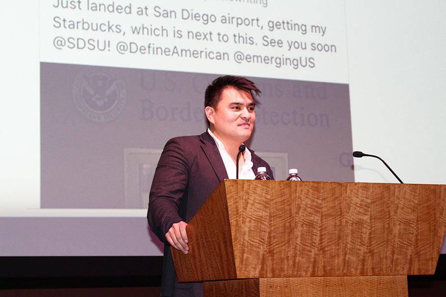 Vargas compartió su historia con estudiantes de la SDSU.