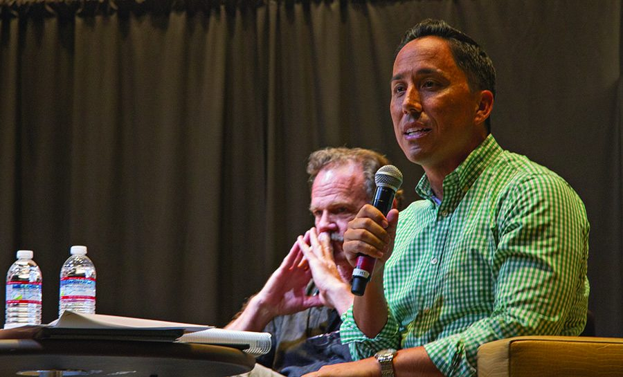 San Diego City Councilman and California State Assembly Candidate Todd Gloria argues in favor of Measure A at a debate at Politifest.