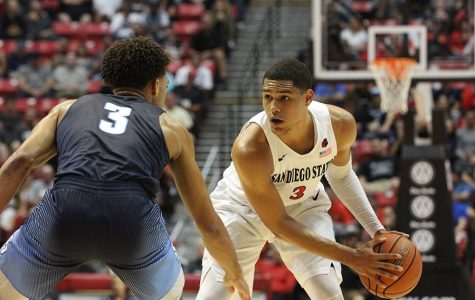 Shorthanded Aztecs open 2016-17 season with a 69-59 win over USD
