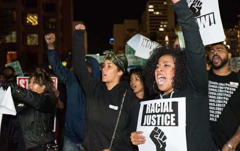 """SDSU students join """"Justice Can't Wait"""" protest in downtown San Diego"""