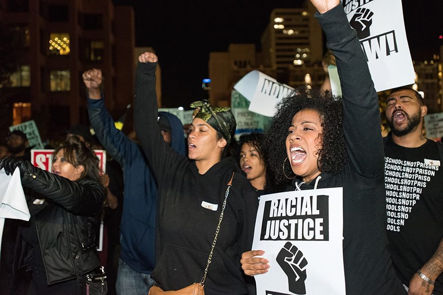 SDSU+students+join+%22Justice+Can%27t+Wait%22+protest+in+downtown+San+Diego