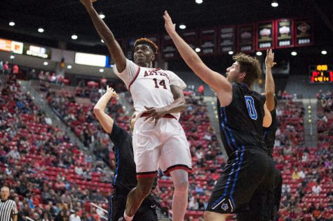 Aztec basketball drops Boise State, 87-68, advances to MW semifinal