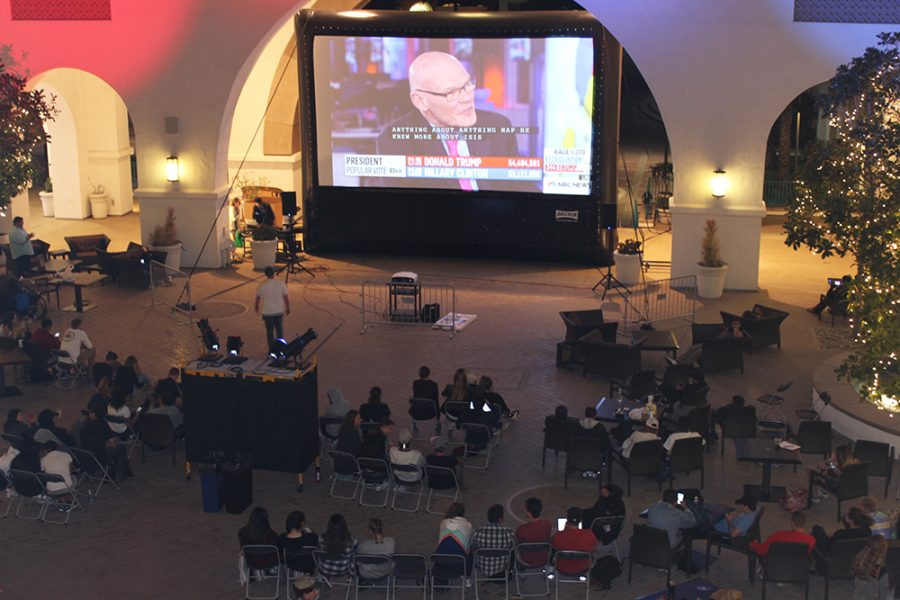 Associated Students Rock the Vote election viewing party on Tuesday Nov. 8
