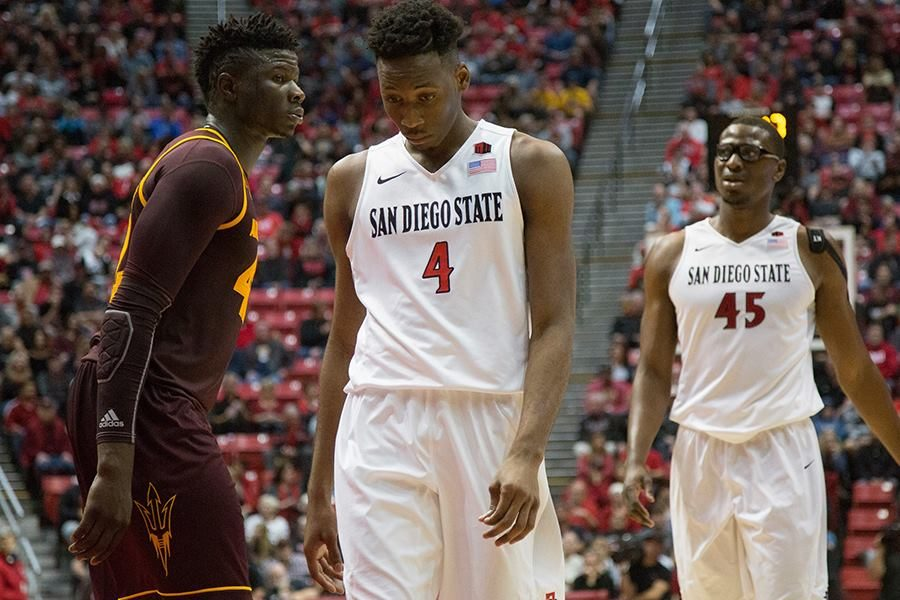 Senior+guard+Dakarai+Allen+%284%29+walks+away+despondently+after+a+play+during+the+Aztecs%27+74-63+loss+to+Arizona+State.