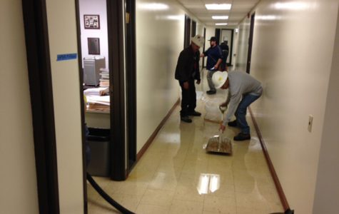 Rain leaks cause water damage in PSFA