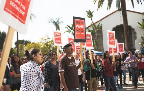 Students rally for immigrant rights and socialist movement