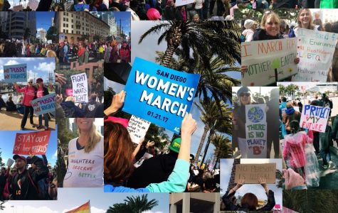 Marchers at the San Diego Women's March, Jan. 21, 2017.