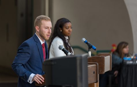 Executive V.P. and V.P. of financial affairs candidates debate campus issues