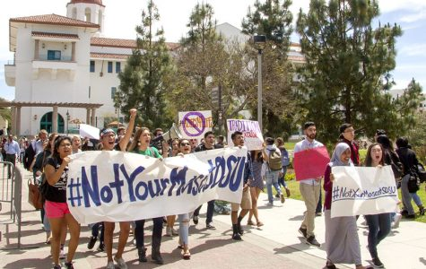 Students march to change SDSU mascot