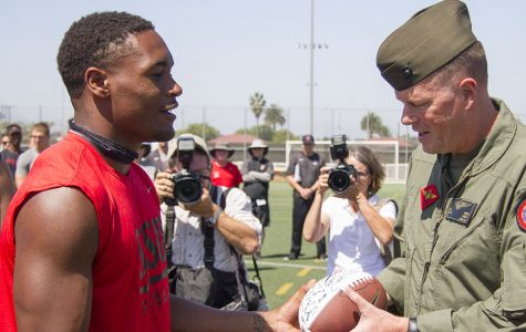 Aztecs honor military at Miramar
