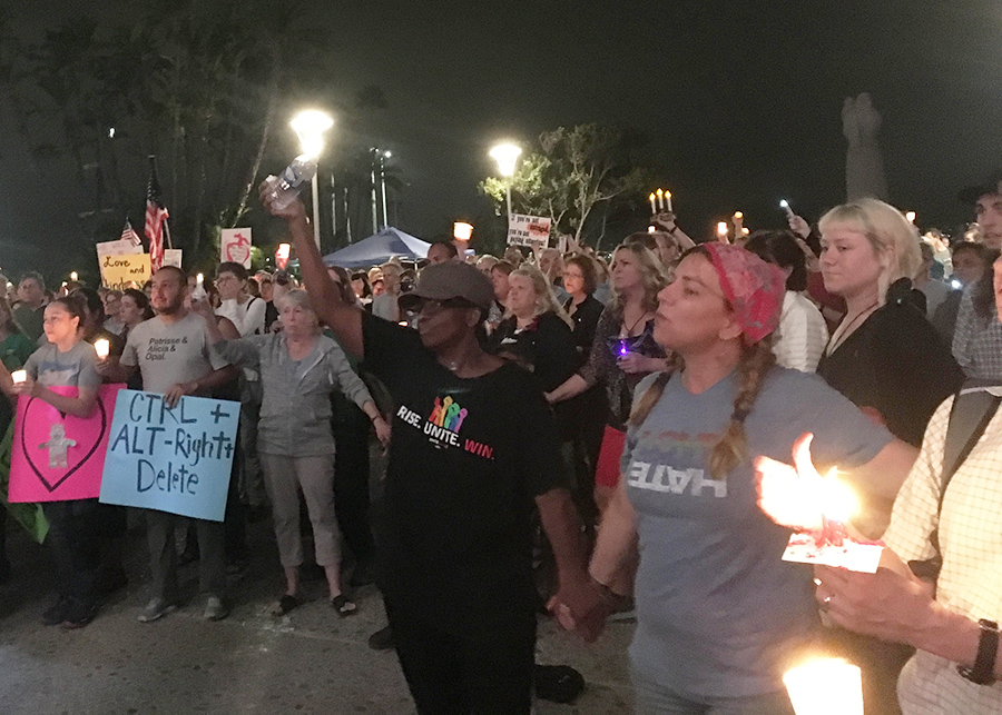 San+Diegans+at+a+vigil+for+Heather+Heyer%2C+the+woman+killed+protesting+the+%22Unite+the+Right%22+demonstrations+in+Virginia
