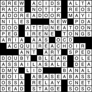 Crosswords solution