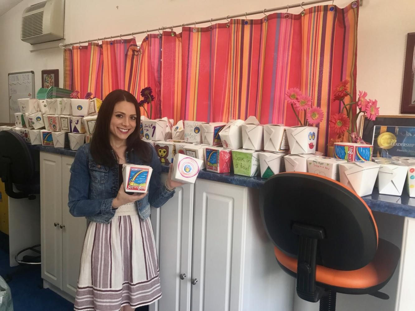 Nutritional science graduate student Danielle Marco runs a non-profit charity, Sox in a Box, which is accepting donations of new socks for hurricane victims.