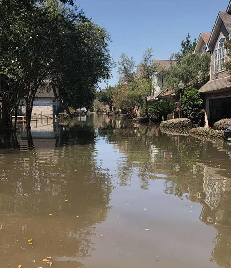 A+Texas+street+flooded+by+Hurricane+Harvey.+Photo+courtesy+of+Vicki+Lee