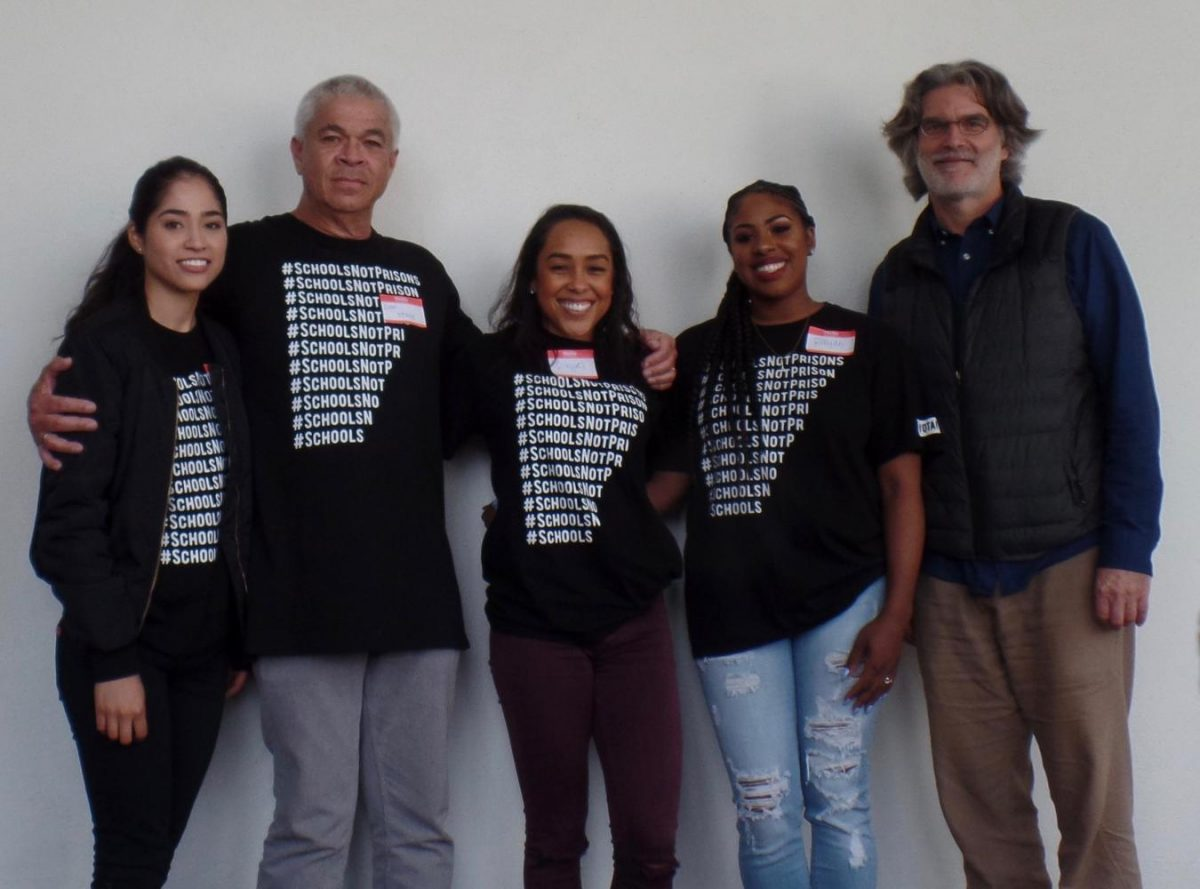 Jessica Gonzalez, Dr. Dan Stacy, Raquel Funches, Raiyah Harris and Dr. Alan Mobley are some of the current staff members of Project Rebound SDSU.