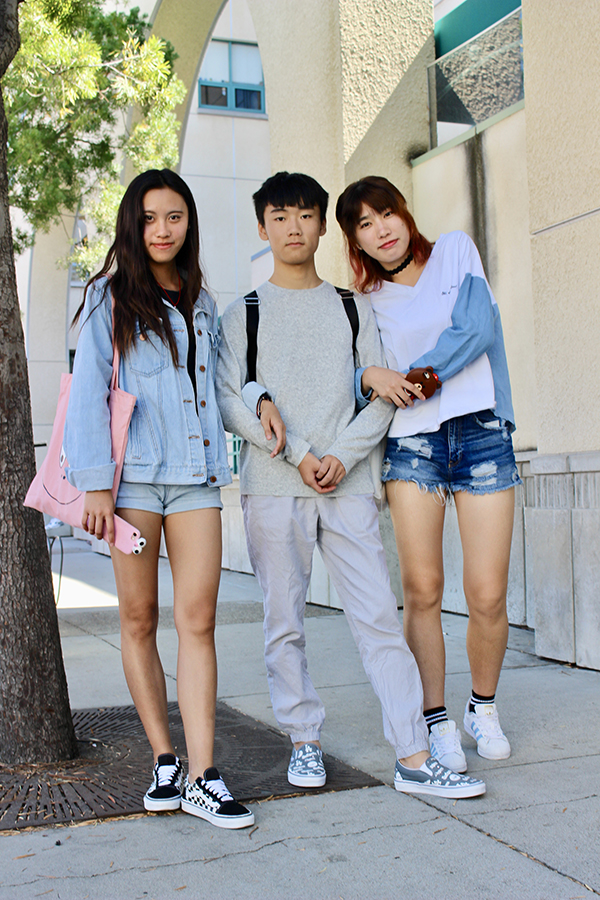 Tina+Lu%2C+Timmy+Yin+and+Bubble+Wu+bring+their+international+style+to+the+campus+of+SDSU.