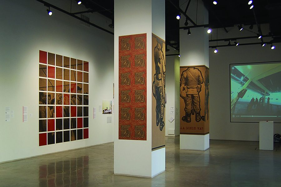 The Estamos Aquí art exhibition located in the School of Art and Designs downtown San Diego gallery showcases the U.S. and Mexico transborder experience.