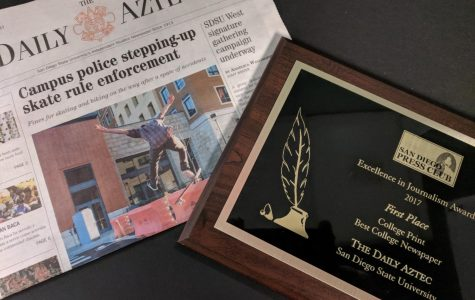 Blog: The Daily Aztec named 'Best College Newspaper' at Excellence in Journalism Awards