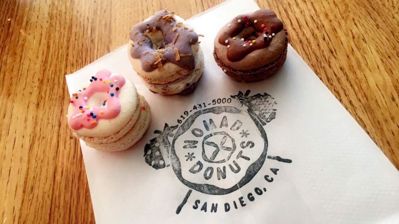 Along with their signature donuts, Nomad Donuts in North Park also serves a variety of macarons.
