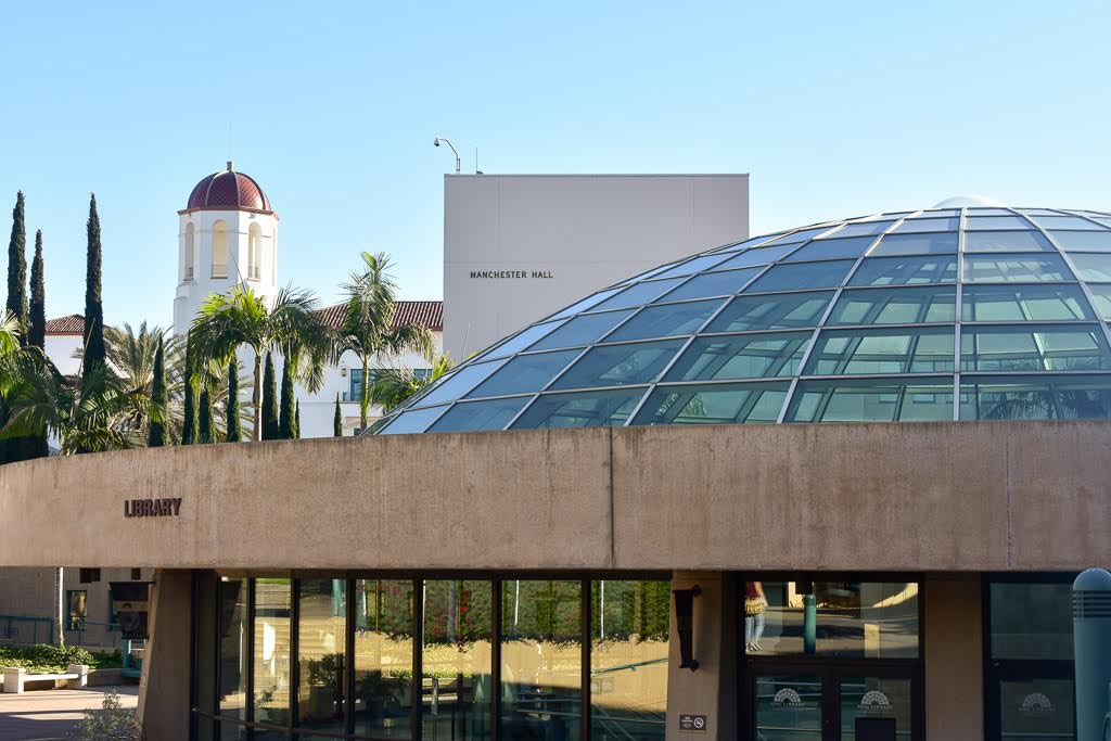 The dome of the SDSU library.