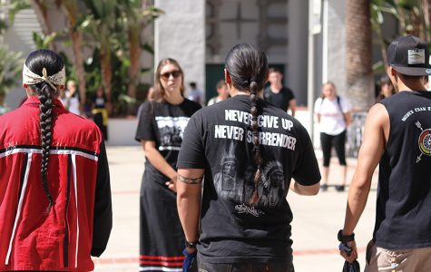 Native American Student Alliance protests Columbus Day