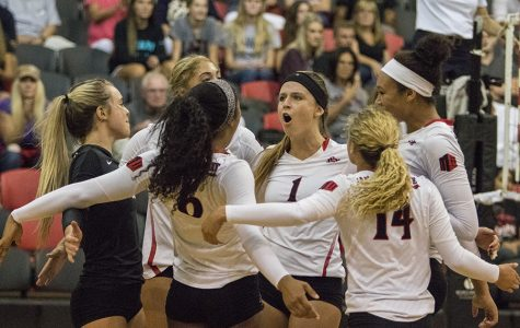 Aztecs take two conference matches, move above .500 for first time