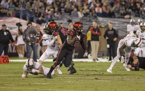 Senior running back Rashaad Penny looks for open field during a run in SDSU's 34-28 win over Northern Illinois.