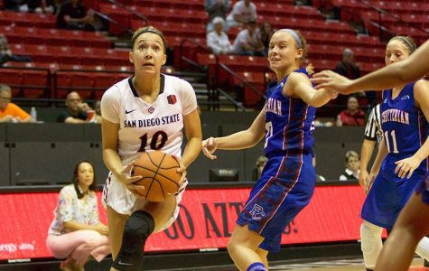 Three pointers, bench contributions power Aztecs past Presbyterian on opening night