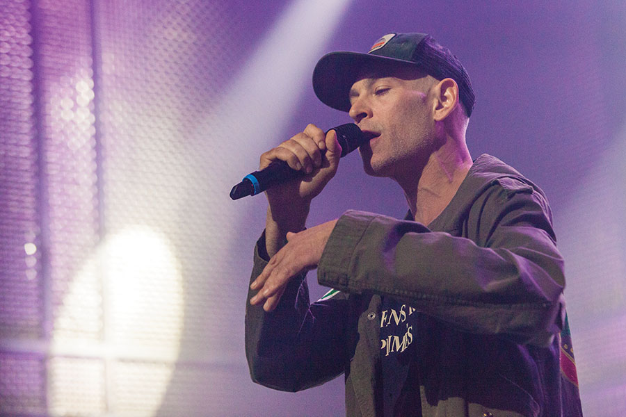 Matisyahu sang his hits at The Music Box in San Diego on Nov. 10.