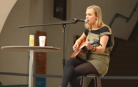 Student Abby Sage sings into the San Diego music scene