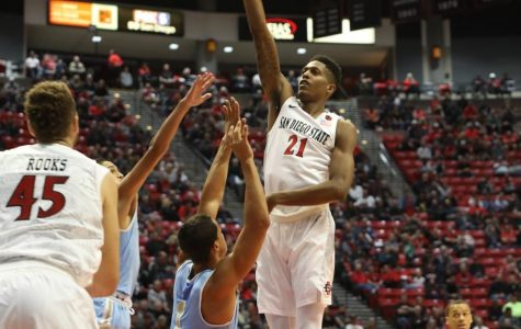 High-flying Aztecs open season with dominant 91-52 win over San Diego Christian