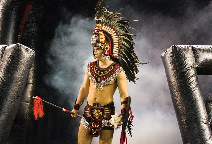 The Aztec Warrior mascot – now to be called a