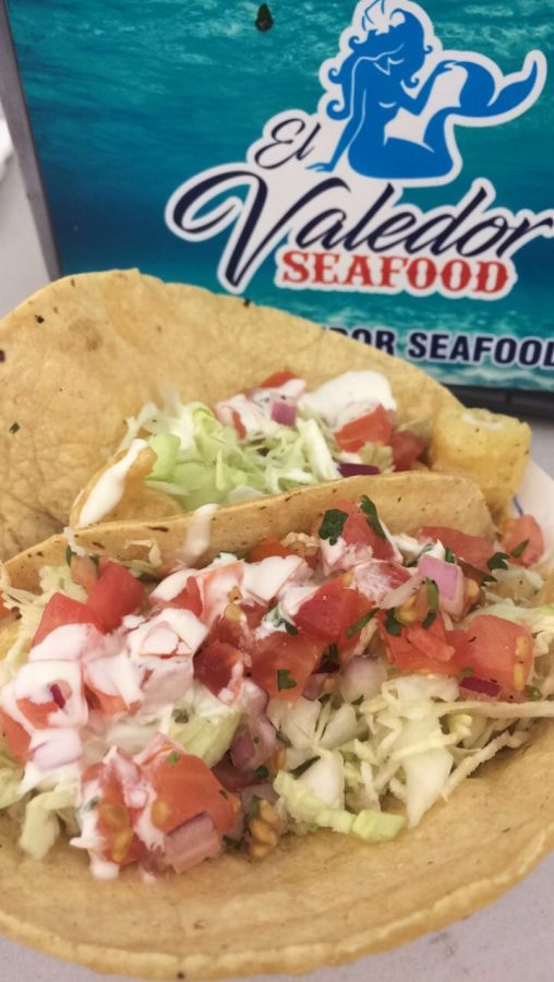 The+fish+taco+is+one+of+the+most+popular+items+on+El+Valdeor+Seafood%27s+menu.