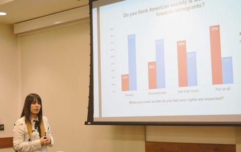 Estudiante presenta estudio sobre las percepciones de estudiantes transfronterizos hacia las autoridades