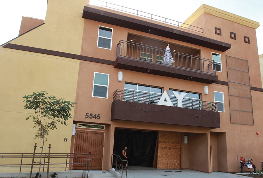 Delta Upsilon's new three-story, 11,000 square-foot house was dedicated in November.