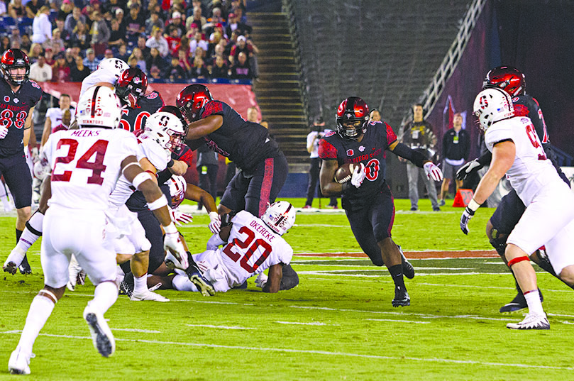 Penny hits the hole against Stanford. Photo by Andrew Dyer.