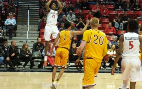 Bench propels Aztecs to 87-77 victory over Wyoming