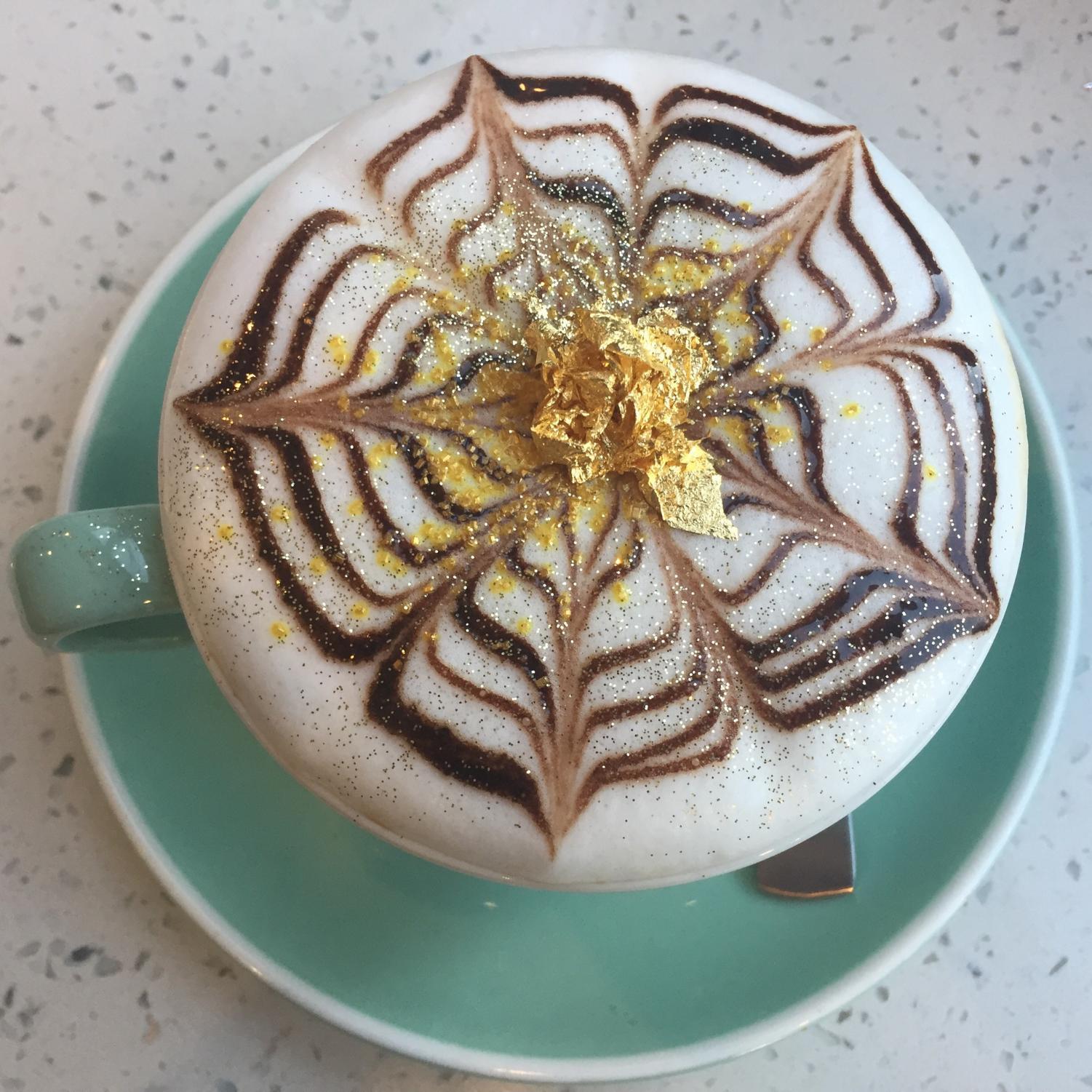 S3 provides a little bling on floating on top of the 24k Cappuccino, made with cookie butter.