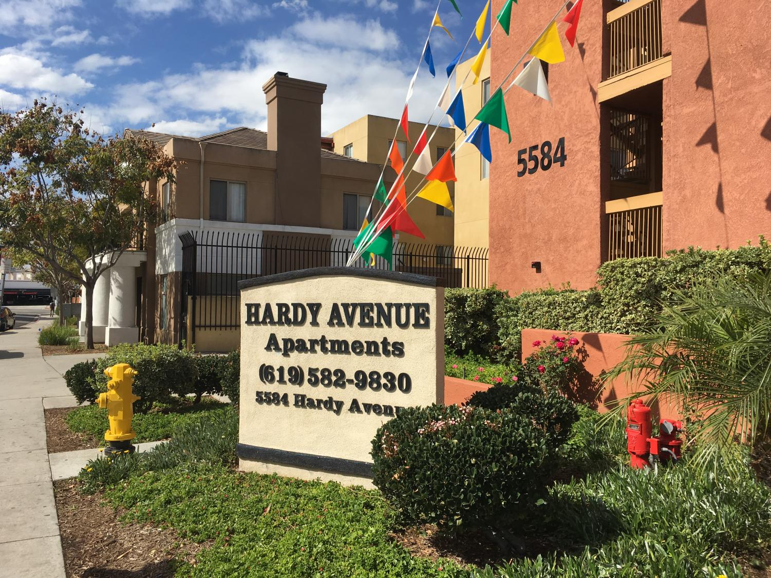 The Hardy Avenue Apartments were burglarized Monday night.